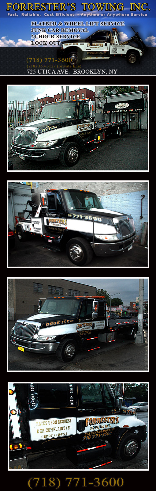 Forrester Towing Utic Ave, Brooklyn NY