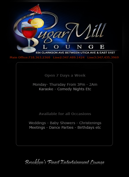 Sugar Mill Bar, Launge, NightClub & Parties Brooklyn